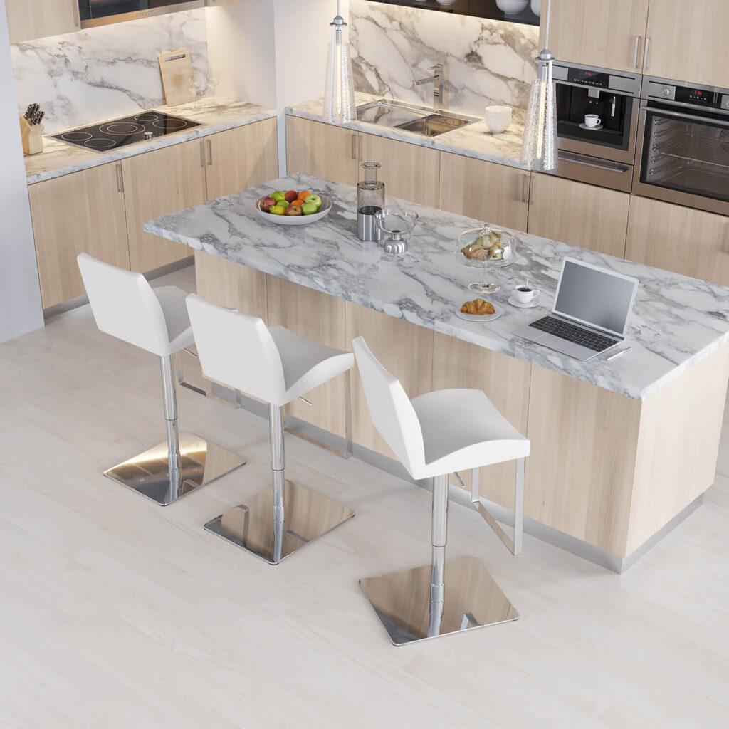 Modani furniture Bellagio Stool CG presentation