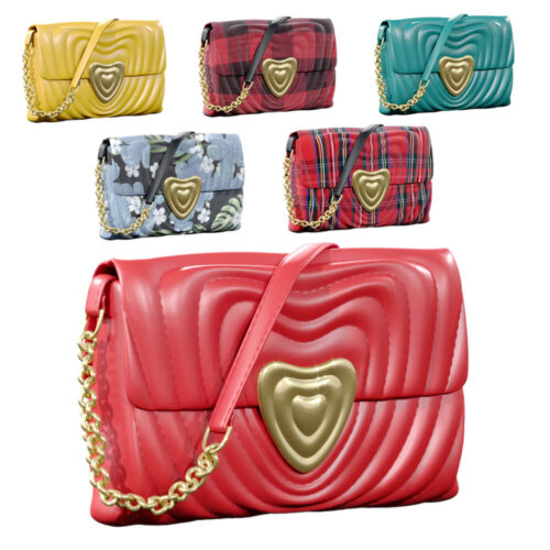 Escada heart bag 3D rendering